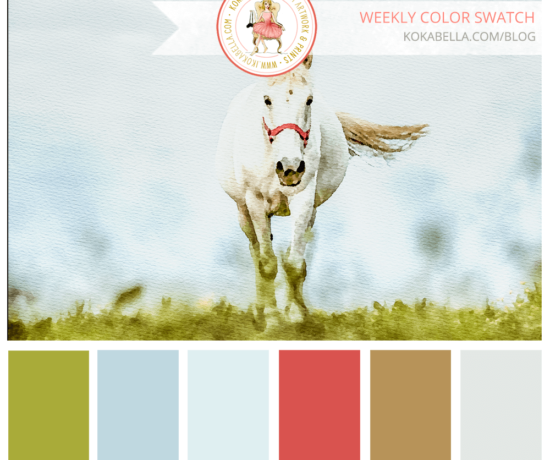 Grey Horse Color Swatch for Designers and Color Lovers