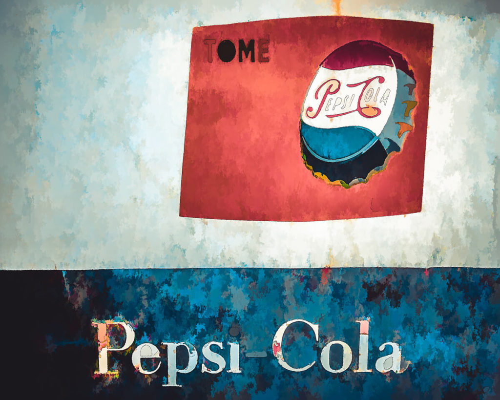 Vintage retro Pepsi sign designed by Terry-Anne of Kokabella Creations